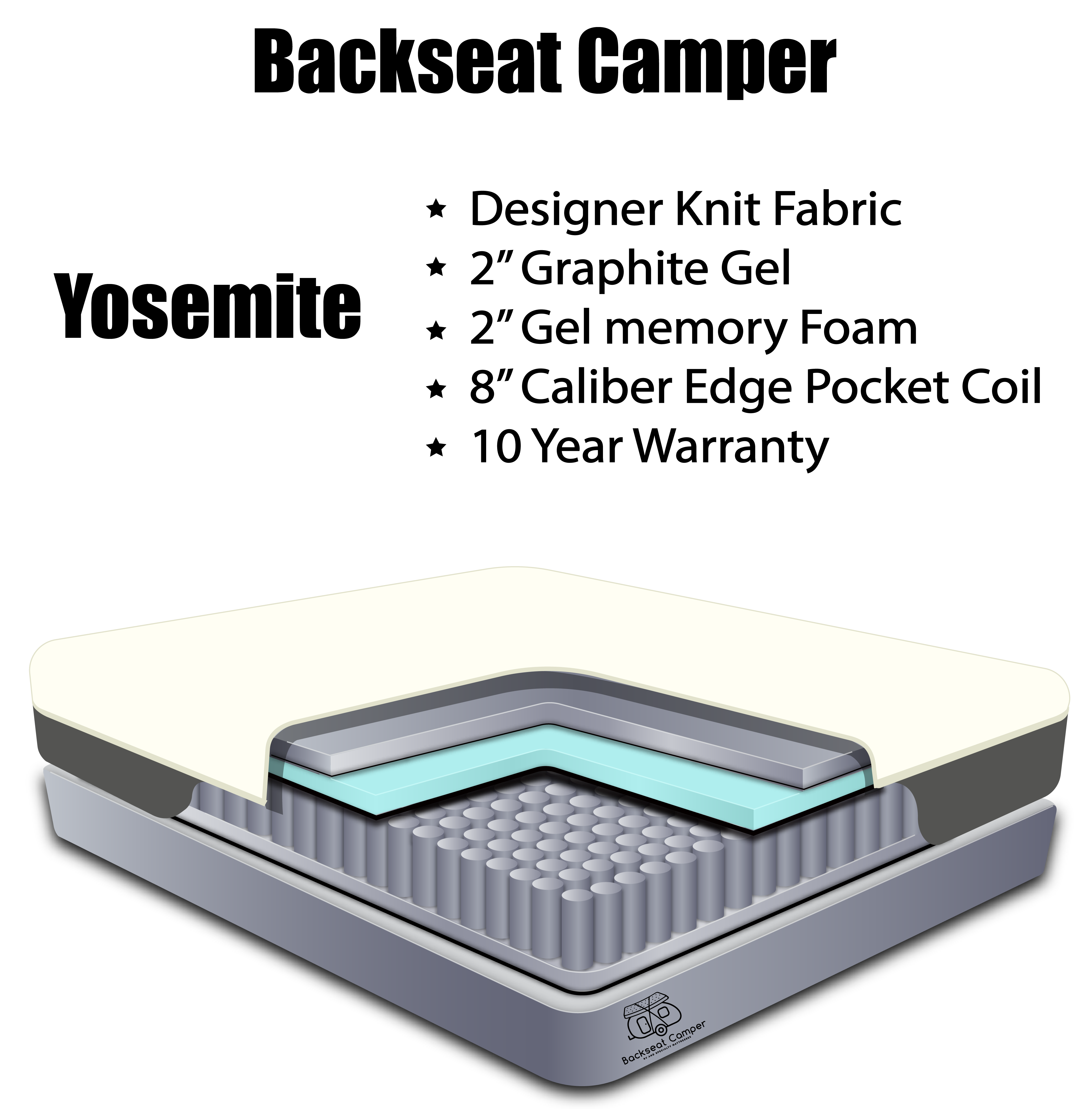 Yosemite Hybrid Rv Mattress 12 Backseat Camper